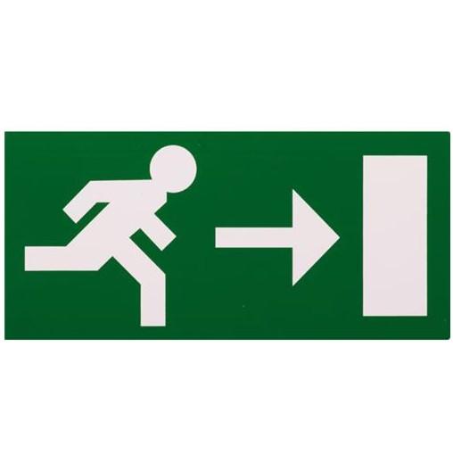 sticker vluchtweg rechts