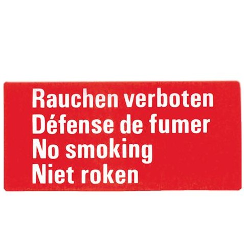sticker roken verboden