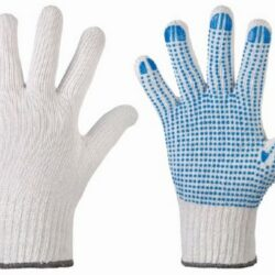 Handschoen polkadot rondgebreid
