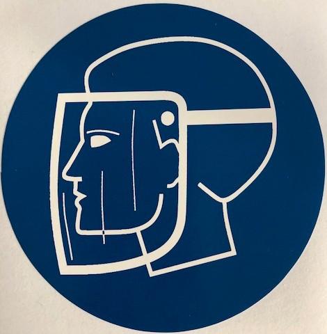 Sticker gelaatsbescherming verplicht