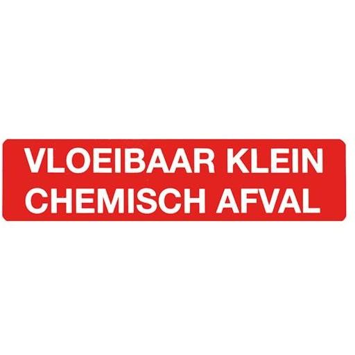 Sticker klein chemisch afval