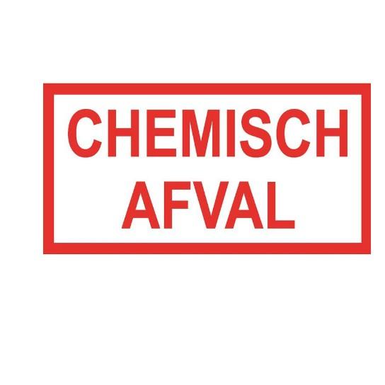sticker chemisch afval