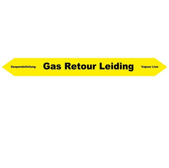 gas retour leiding sticker